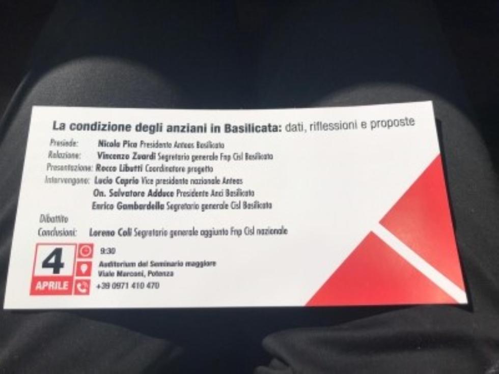 La condizione degli anziani in Basilicata, un convegno a Potenza