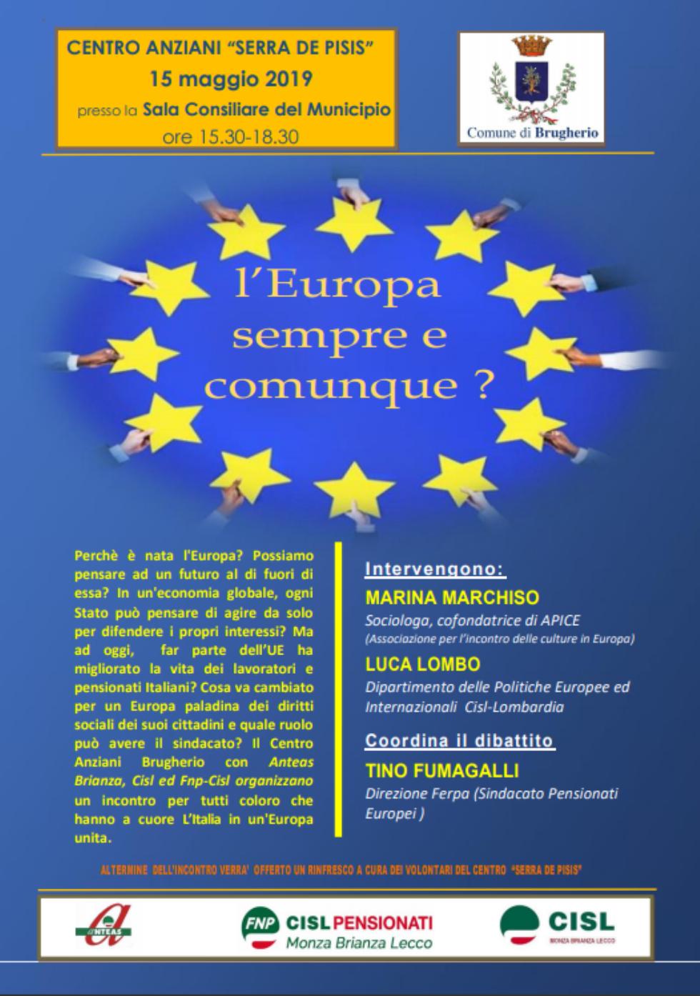 Incontro a Brugherio sull'Europa