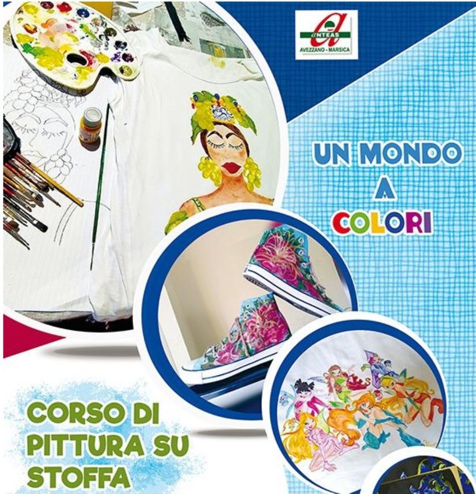 Anteas Avezzano Marsica propone un corso di pittura su stoffa
