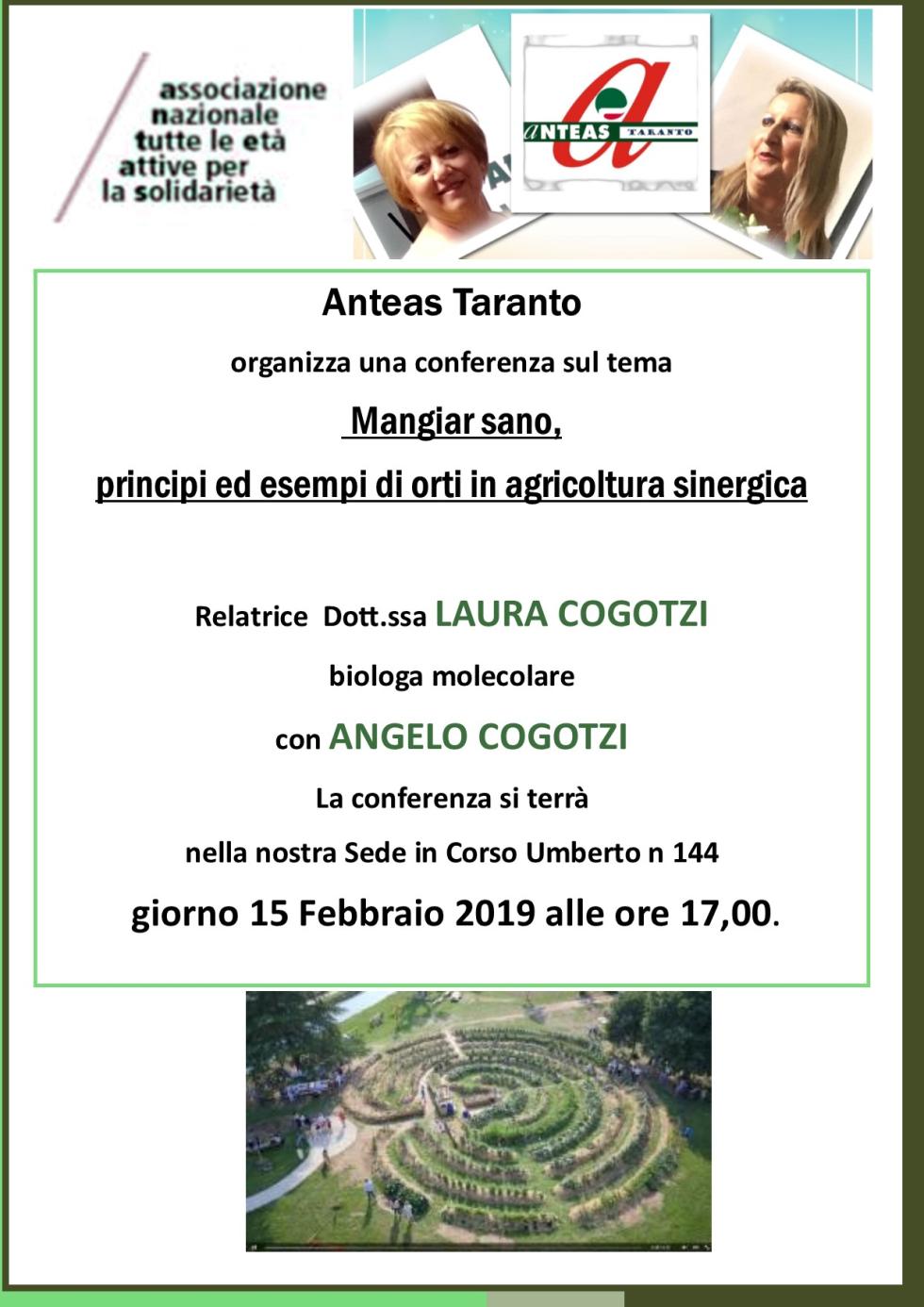 Agricoltura sinergica e sostenibilità. Un approfondimento con gli esperti presso Anteas Taranto.