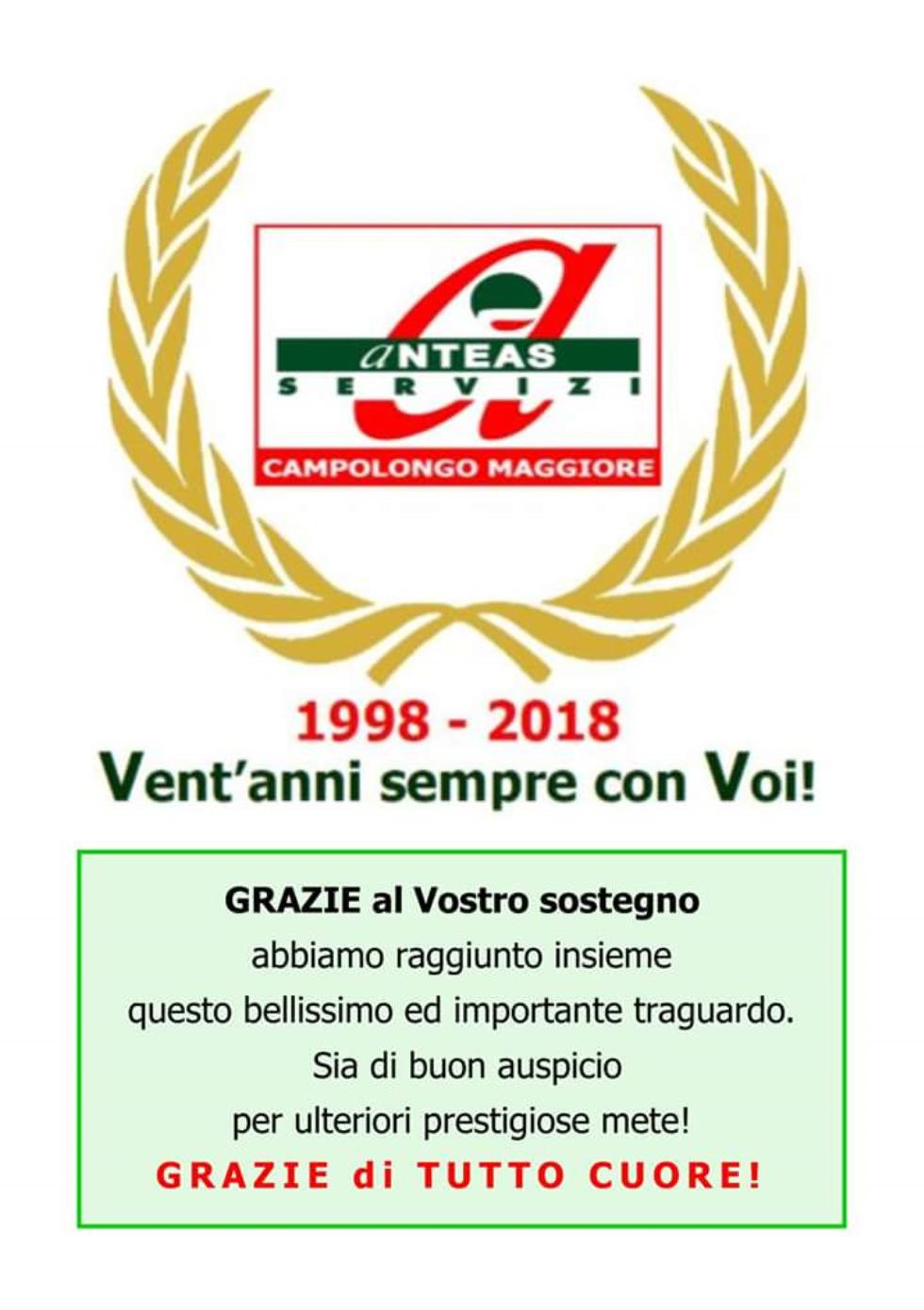Ventennale di Anteas Campolongo Maggiore (1998-2018)