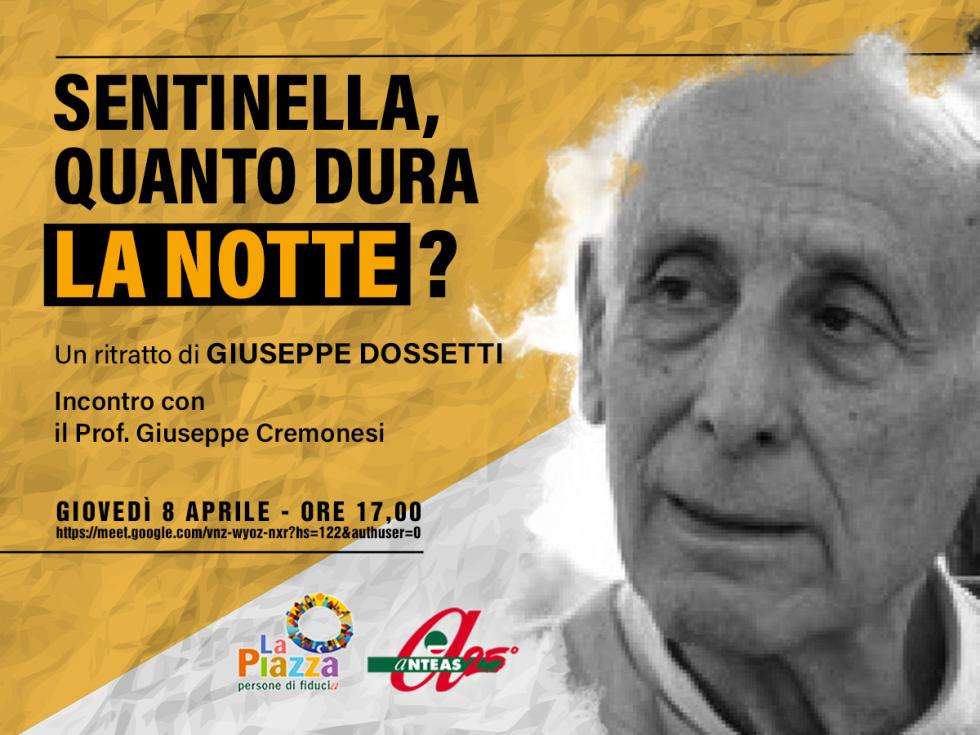 Un ritratto di Giuseppe Dossetti, padre costituente: giovedì 8 aprile sulla Piazza