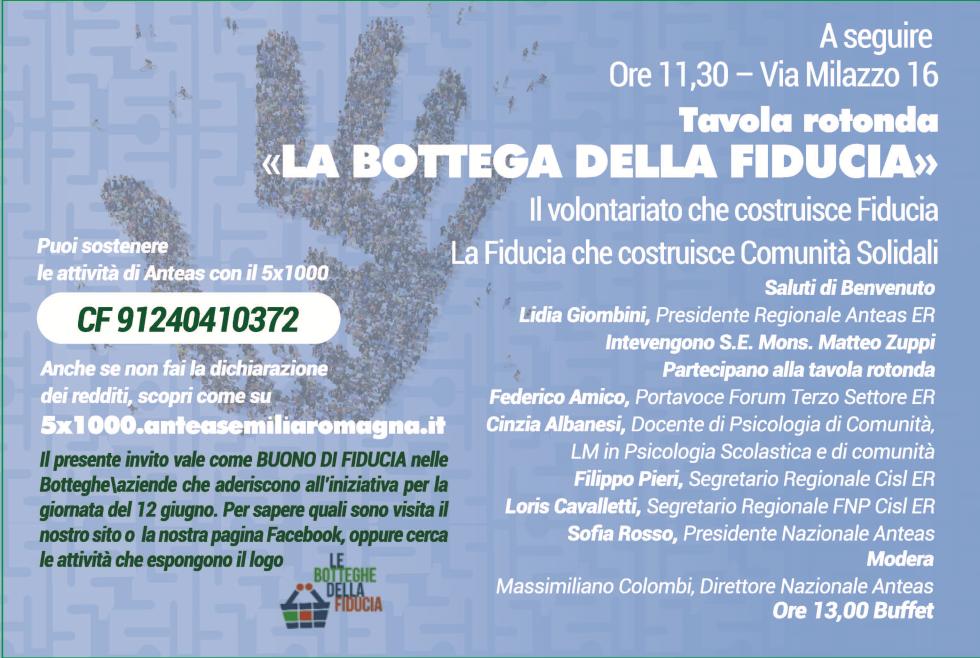 Bologna 12 giugno 2019, le botteghe della Fiducia