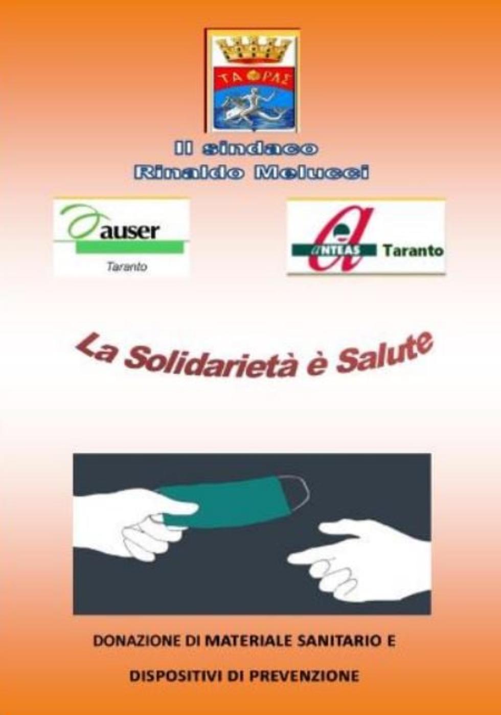 Anteas - Taranto e Auser Taranto #insieme per fronteggiare le difficoltà legate alla pandemia