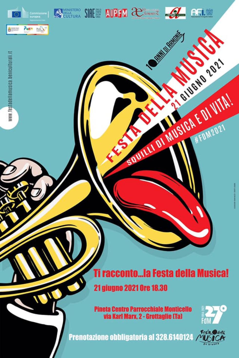 Anteas Grottaglie partecipa alla Festa della Musica per il solstizio d'estate