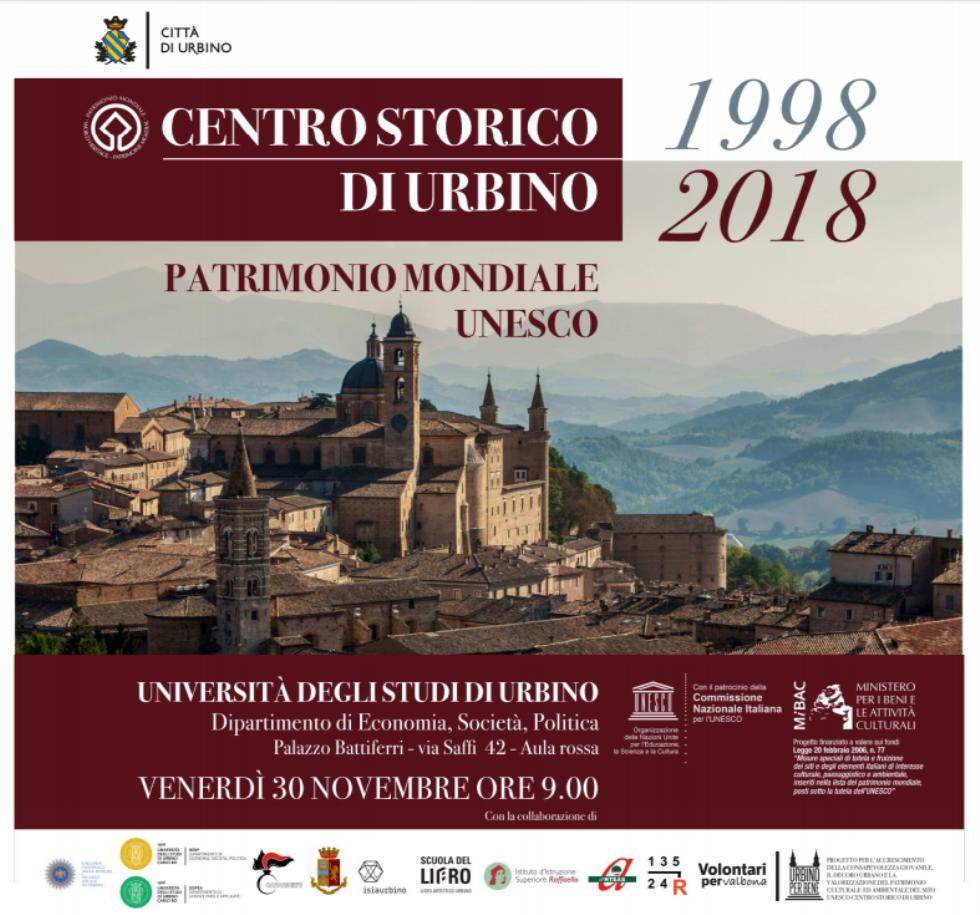 Celebrazioni del centro storico di Urbino come patrimonio dell'umanità