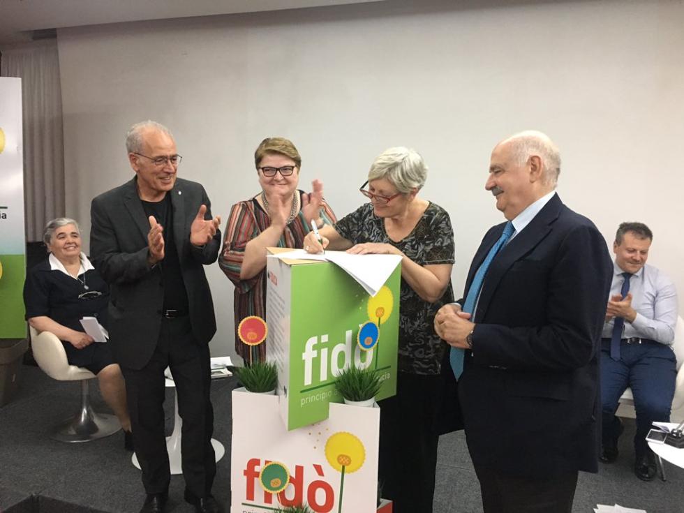 Firma protocollo CISL FNP ANTEAS maggio 2018