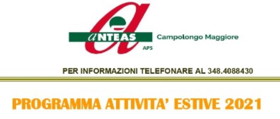 Anteas Campolongo  riparte con un ricco programma estivo