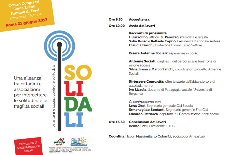 Locandina-invito dell'evento finale del progetto