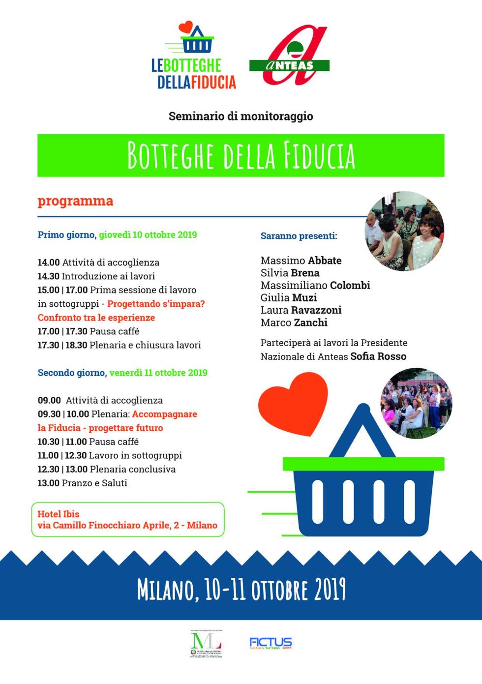 Programma seminario Botteghe della Fiducia a Milano