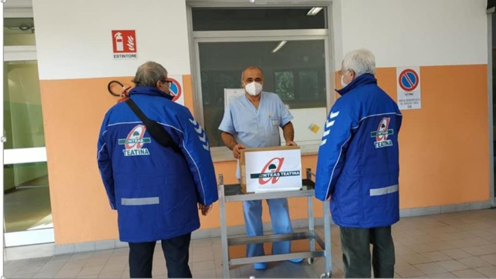 Gesto di solidarietà di Anteas Teatina con l'ospedale di Ortona