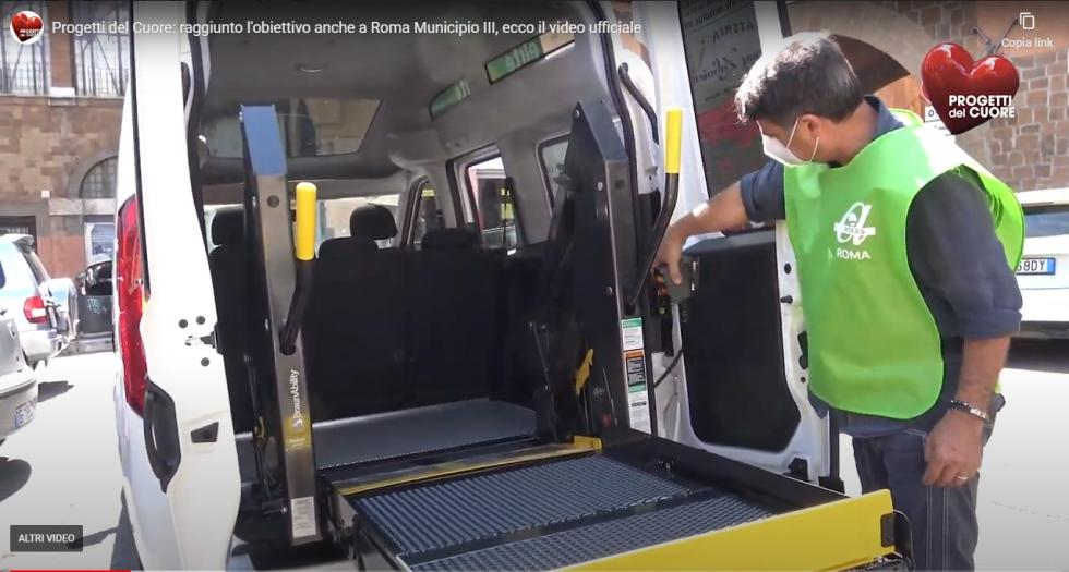 Progetti del cuore consegna ad Anteas Roma un nuovo automezzo attrezzato per il trasporto disabili