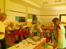Tela delle generazioni di Aosta. Progetto inter-generazionale, nonni e nipoti